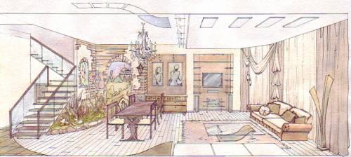 Представлены чертежи ванной комнаты
